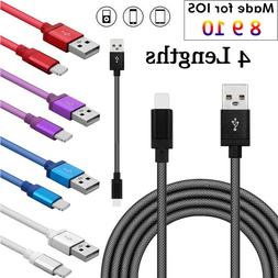 3/6/10FT Strong Fast Charger Data Sync USB Cable For iPhone