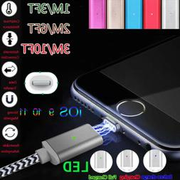 1/2/3M 2.4A Magnetic LED Adapter Charger Cable For iPhone 5