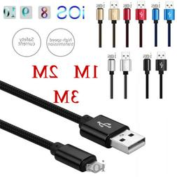 1/ 2/ 3M Fast Charger Strong USB Data Cable For IOS iPhone 5
