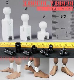 "1/6 Extra Long Feet Leg Peg Joint Adapter Set For 12"" Hot To"
