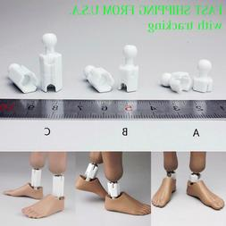1/6 Extra Long Feet Leg Peg Joint Adapter Set For Hot Toys P