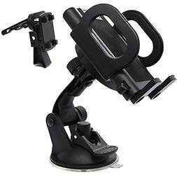 2-in-1 Car phone holder, Mount, Secure Phone/GPS to Windshie