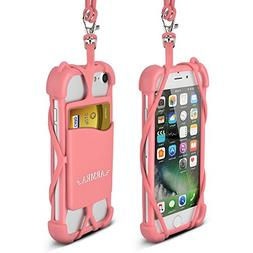 2 in 1 Cell Phone Lanyard Strap Case Universal Smartphone Sh