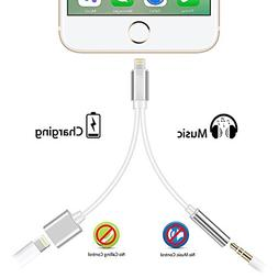 HOOKE 2 in 1 Charging Audio Adapter For iPhone 7 7 Plus 6 6S