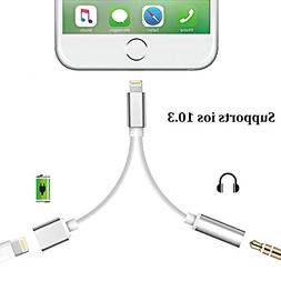 2 in 1 Lightning iPhone 7 Adapter, Lightning Adapter and Cha