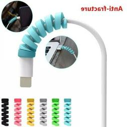 #1 Usb Cord Protector Baby Blue for iPhone IPad iPod android