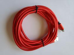 10 feet extra long Heavy Duty USB data Cable Charging cord F