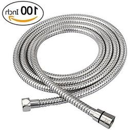 100-Inch Shower Hose Bathroom Stainless Steel Extra Long Hea