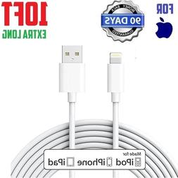 10ft extra long Lightning Cable 8 Pin white USB Cord for iph