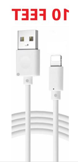 10FT Extra Long USB Cable For iPad 4 Air Mini 2 iPhone Charg