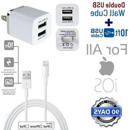 10ft Extra Long 8 Pin USB Power Cord Cable for iPhone SE,7,8