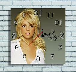 Britney Spears 11.8'' Handmade Wall Clock - Get unique d