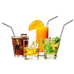 12 Pcs Drinking Straws Reusable Extra Long Straw Stainless S