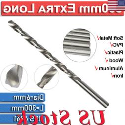 1Pc 300mm Extra Long High Speed Steel Woodworking HSS Twist