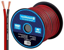 InstallGear 14 Gauge AWG 100ft Speaker Wire Cable - Red/Blac