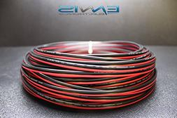 14 GAUGE 25 FT RED BLACK SPEAKER ZIP WIRE AWG CABLE POWER ST