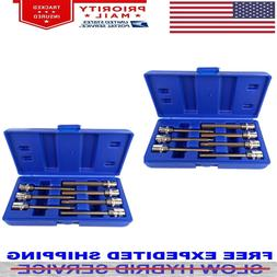 14 Pc Extra Long Hex Bit Sockets Allen Wrench MM US Free Shi