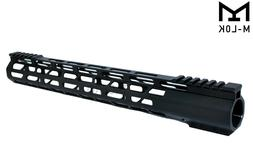 """15"""" Inch Extra Long and Super Light Free Float M-LOK Top Cut"""