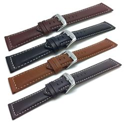 18-30mm Extra Long XL Leather Watch Band Strap, Many Colors,