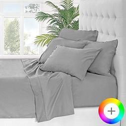 Bare Home 6 Piece 1800 Collection Deep Pocket Bed Sheet Set