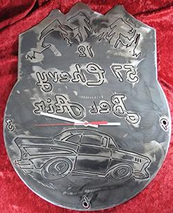 1957 Chevy Bel Air Clock, Wall Clock, Metal Wall Clock, Auto