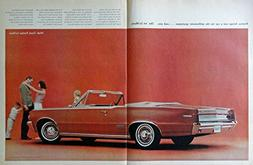 1964 Pontiac Le Mans, 60's Print Ad. Two Full Page Centerfol