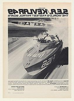 1977 DuPont Kevlar 49 World's Fastest Patrol Boats Original