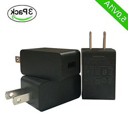 HOOKE 3 Pack 5V 1A USB Wall Charger for iPhone, iPad, iPod,