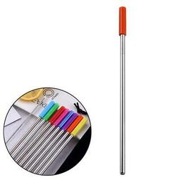 1pc Metal Extra Long  Stainless Steel Straws