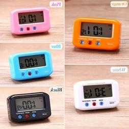 "2.7"" Small LCD Digital Time & Date Alarm Clock Stop Snooze N"