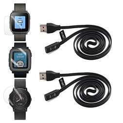2-PACK Pebble Time Charging Cable , TUSITA Replacement USB C