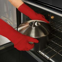 2 Pack Super Oven Glove Extra Thick Extra Long Heat Resistan