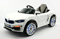 2017 New BMW Style 12V Power Ride on Toy with UV Lights, Lea