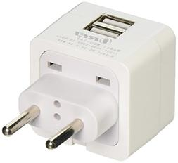 OREI 3.4A 2 USB Plug Adapter Type C for Europe - Compatible
