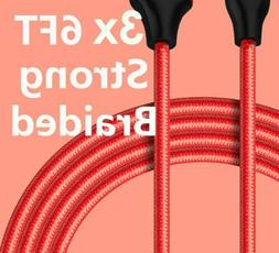 3 PACK Cable For iPhone 6 7 5S 8 Plus X XS Charging Cord USB