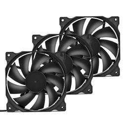 uphere 3-Pack Long Life Computer Case Fan 120mm Cooling Case