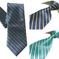 3 Styles Extra Long Microfibre Tie Men's Woven Stripe Polyes