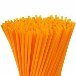 300-Pack Plastic Orange Disposable Party Drinking Straws, Ex