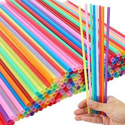 Tomnk 300pcs 10.3 Inch Disposable Drinking Straws Plastic St