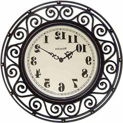 Westclox 32021 Wrought Iron Style Wall Clock
