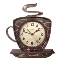 Westclox 32038 Clo 8 Coffee Cup Wall Clock Brown WLM