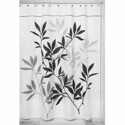 Interdesign 35625 Leaves Fabric Shower Curtain - Extra Long,