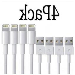 4 Pack Apple iPhone 7 Plus 6S 5 USB Charger Cable Data Sync