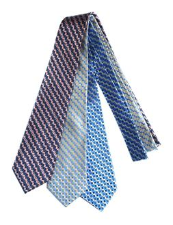 4 Colors Extra Long Polyester Tie Plaid  Microfibre Woven XL