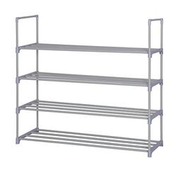 Home-Like 4-Tier Shoe Rack DIY Shoe Tower Metal Storage Rack