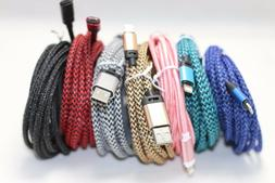 4x 10 FT Extra long braided USB Data Charging cable cord For