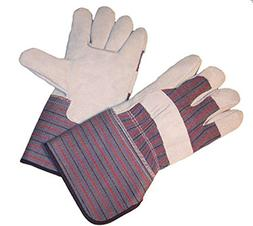 G & F 5025 Extra Long Cuff  Leather Palm Work Gloves, Gloves