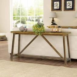 """Tribesigns 59"""" Extra Long Rustic Console Table Solid Wood So"""