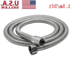 5Ft Shower Head Hose Extra Long 1.5M Stainless Steel Hand He