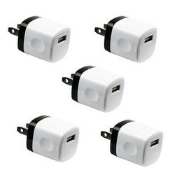 5x 1A USB Wall Charger Plug AC Home Power Adapter FOR iPhone